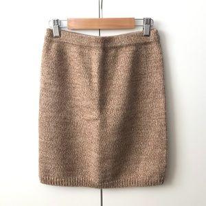 Club Monaco Knit Teddy Brown Mini Dress